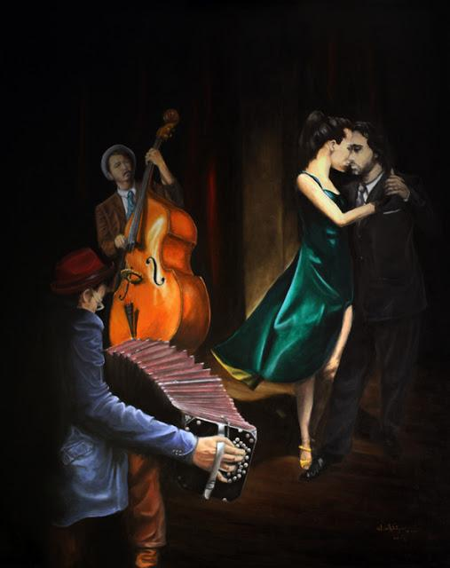 """Tango"" oil in canvas (100 x 80 cm)"